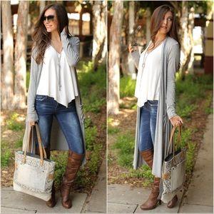 ✨RESTOCKED✨Heather Gray Long Sleeve  Knit Cardigan